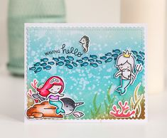 https://flic.kr/p/JouZng | Little Mermaid card | umichka.com  For Lawnscaping Challenge: Distress Maniacs lawnscaping.blogspot.ru/2016/06/lawnscaping-challenge-dis...