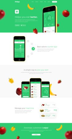 Fitapp landing page