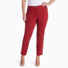Plus Size Gloria Vanderbilt Amanda Classic Tapered Jeans, Women's, Size: 22W Short, Dark Red