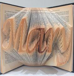 Handmade folded 3D book art for Mary.