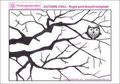 Fall branch template to decorate