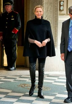 A New York Wednesday, Princess Charlene was photographed in New York while she was walking in the streets.