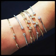 These @alinkandco #diamond bracelets were born to stack  #LUXURYPrive #morebanglesfewerproblems
