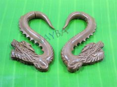 dragon wooden tribal earrings by Leginayba on Etsy, $6.99 #tribal earrings #tribal style #wooden earrings #FakeGauge #FauxGauge #OrganicJewelry #EcoJewelry #natural #bali