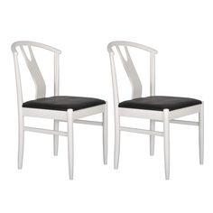 Set 2 scaune  RGE  Hugo, alb