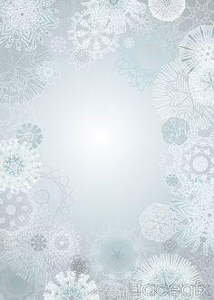 Grey floral background vector