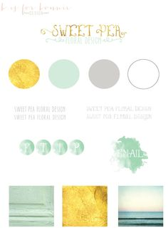 Custom Branding Package - Web Elements, Logo & Watermark. #design #swatches #beautiful #beauty #neutral #branding #pastel