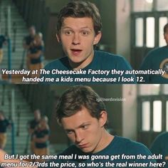 33 Times Tom Holland Stole Our Hearts With His Boyish Charm Funny memes that GET IT and want you to too. Get the latest funniest memes and keep up what is going on in the memeosphere. Funny Marvel Memes, Marvel Jokes, Dc Memes, Avengers Memes, Marvel Avengers, Funny Jokes, Funny Relatable Memes, Funniest Memes, Avengers Imagines