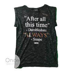 Primark Official HARRY POTTER Dumbledore & Severus Snape ALWAYS T Shirt #Primark #Graphic