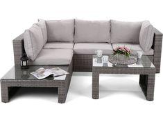 Modułowy zestaw mebli z technorattanu do ogrodu NAPOLI / szary - #mebleogrodowe #mebledoogrodu #gród #ogródek #wypoczynek #relaks #komfort #stolikogrodowy #kanapaogrodowa #kawawogrodzie Outdoor Sectional, Sectional Sofa, Outdoor Furniture, Outdoor Decor, Home Decor, Modular Couch, Decoration Home, Room Decor, Corner Sofa