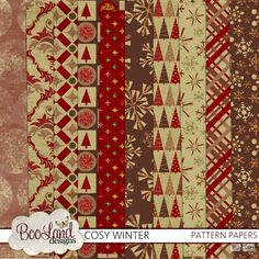 Cosy Winter Pattern Paper Pack