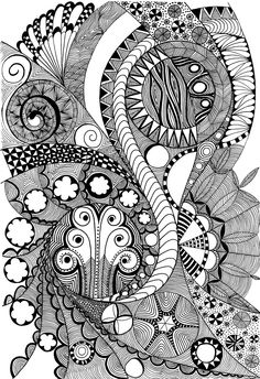 """I see an """"s"""" in this image- idea: zentangles utilizing a first initial."""