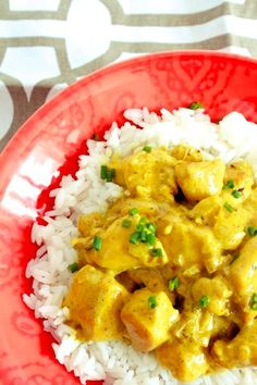 Chicken Curry Over Rice | A Little Bite of Everything
