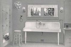 1912 Bungalow. I've always loved these sinks. If I could find one, I would embrace it in my current kitchen life.