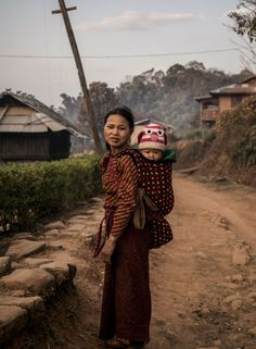 Palaung tribe woman, Pankam village, Myanmar