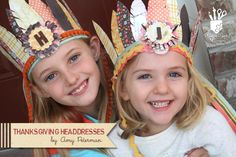 Thanksgiving Headdress for the kiddos!  Free Feather download to use with die-cutting machine.  Amy Peterman for Fancy Pants Designs