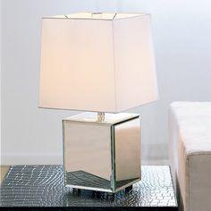 theme: mirrored / West Elm Cube Mirror Lamp