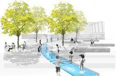 Ideas For Urban Landscape Architecture Plan Layout Collage Architecture, Landscape Architecture Model, Plans Architecture, Landscape Model, Landscape Plans, Landscape Drawings, Architecture Drawings, Urban Landscape, Landscape Design