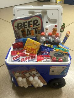 Ice Chest Gift Basket Birthday For A Guy