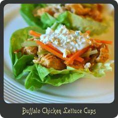 Buffalo Chicken Lettuce Cups