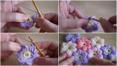 How To Crochet A Puff Flower - Tutorial