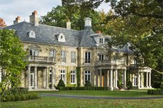 American-French Country House Greenwich, CT | Wadia Associates Luxury Home Builders Stone Mansion, Residential Architect, French Country House, Country Houses, French Chateau, Home Builders, Marketing Digital, Luxury Homes, Luxury Mansions