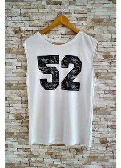 Kup mój przedmiot na #vintedpl http://www.vinted.pl/damska-odziez/koszulki-na-ramiaczkach-koszulki-bez-rekawow/10187987-koszulka-bez-rekawow-moro-napis-numer-cyfra-baseball-swag-must-have