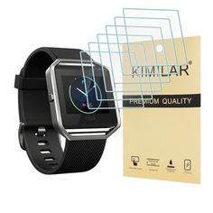 Kimilar Fitbit Blaze Screen Protector, 6-Packs Premium HD Tempered Glass with Li #KIMILAR