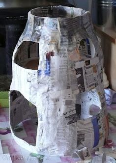 paper mache body for miniature house / building