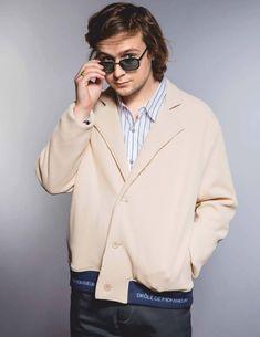 Male Fashion Trends: Logan Miller luce piezas en denim para DAMAN Magazine Logan Miller, Male Fashion Trends, Mode Style, Menswear Trends, Actors, Denim, Walking Dead, Coat, Ss