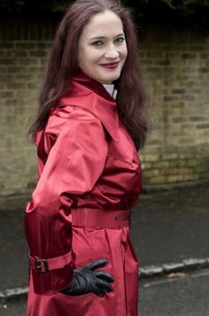 Mackintosh Raincoat, Rubber Raincoats, Macs, Raincoats For Women, Rain Wear, Redheads, Women Wear, Leather Jacket, Satin