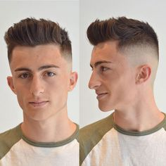 High Skin Fade with Spiky Quiff