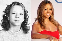 Mariah Carey in Seventh Grade at Oldfield Junior High in Greenlawn, New York, in 1982 and Mariah Carey in 2011http://bit.ly/HRc7TY
