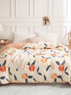 To find out about the Peach & Striped Print Duvet Cover Without Filler at SHEIN, part of our latest Duvets & Duvet Covers ready to shop online today! Peach Bedroom, Peach Bedding, Duvet Bedding, Bedroom Sets, Diy Bedroom Decor, Bedding Sets, Dream Bedroom, Cover Style, Duvet Cover Design