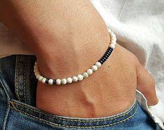 Items I Love by Tim on Etsy Hematite Bracelet, Gemstone Bracelets, Gemstone Necklace, Bracelets For Men, Tiger Eye Bracelet, Bracelet Designs, Stone Beads, Jewels, Gemstones