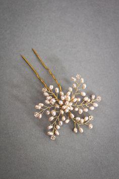VERA champagne bridal hair pin