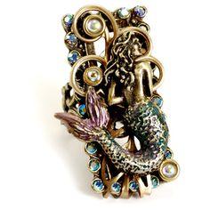 Sweet Romance Bronzetone Crystal Floating Mermaid Ring | Overstock.com Shopping - Big Discounts on Sweet Romance Fashion Rings