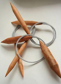 Handmade Wooden Circular Knitting Needles