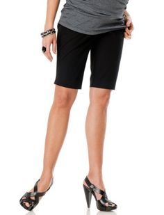 A Pea in the Pod: Secret Fit Belly(tm) Stretch Fabric Maternity Shorts $49.99