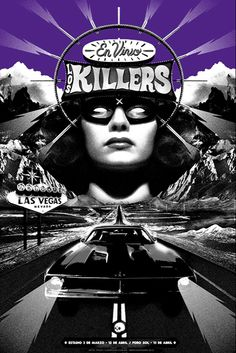 """Los Killers"" GigPoster for The Killers #Gigposter #TheKillers"
