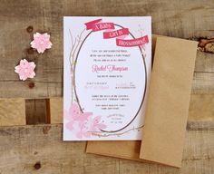 Flor de cerezo Baby Shower personalizado por YourNewFriendSam