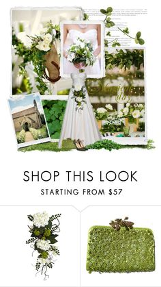 """""""St. Patty's Wedding"""" by colierollers ❤ liked on Polyvore featuring Nearly Natural, Valentino and Jennifer Chamandi"""