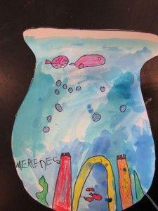Kindergarten Fish Bowls Art Education Projects, Classroom Art Projects, Art Classroom, Kindergarten Art Lessons, Elementary Art, Art Blog, Art For Kids, Bowls, Arts And Crafts