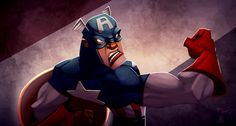 Captain America °° This week we take a look at Awesome Marvel Characters Illustrations by a digital artist from Canada, Kendrick Tu, also known by kay-too. Marvel Comic Character, Marvel Characters, Comic Books Art, Comic Art, Book Art, Marvel Dc, Marvel Comics, Character Illustration, Bibliophile