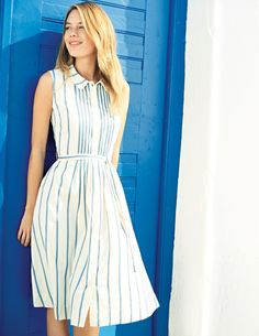 Monte Carlo Dress Smart Day Dresses at Boden Beauty And Fashion, Look Fashion, Womens Fashion, Fashion Trends, Smart Day Dresses, Dress Skirt, Dress Up, Shirt Dress, Lace Skirt