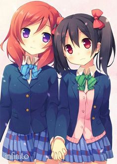 "fallingyuri: "" My favorite couple in Love Live and Yuru Yuri ^^ "" Anime Love, Anime Girl Cute, Kawaii Anime Girl, Couples In Love, Girls In Love, Live Girls, Yuri Anime, Anime Art, Yuri Love"