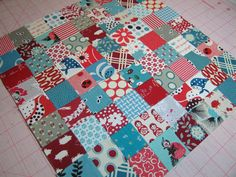 A short cut to sewing tons of tiny squares today. I'm not kidding when I say I am in awe. Why have I never heard of this before? I need to do this very soon.