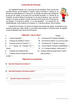 To Learn French Hairstyles French Videos For Kids Foreign Language French Flashcards, French Worksheets, French Verbs, French Grammar, French Teaching Resources, Teaching French, French Language Lessons, French Lessons, French Basics