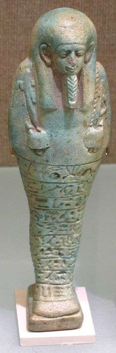 Period: First Persian Period–Late Period Dynasty: Dynasty 27–30 Date: 525–332 B.C. Geography: Egypt Medium: Faience Dimensions: H. 0.153m Credit Line: Bequest of Mary Anna Palmer Draper, 1915