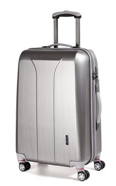 March New Carat S 2013 Silver brushed - kufr Suitcase, Silver, March, Briefcase, Mac, Money